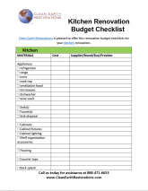 Thinking About Remodeling Your Kitchen? Get Our Free Budget Worksheet