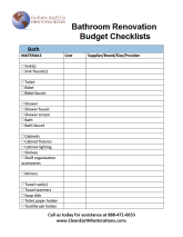 Clean Earth Bathroom Remodel Budget Sheet